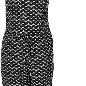 Old Navy Pants - Old Navy Black and White Romper Size L